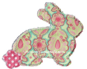 847 Raggy Bunny Machine Embroidery Applique Design