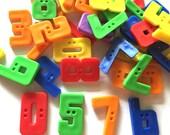 30 Pcs  0 1 2 3 4 5 6 7 8 9 Number Buttons Size 25 Mm Mix Color
