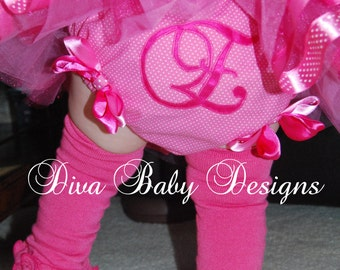 Personalized Diaper Cover/Bloomers YOUR CHOICE of Letter, Number, colors & fabrics