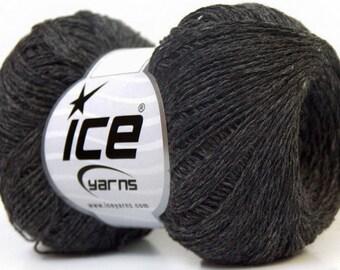 Knitting  yarn, Destash yarn, Dark Grey, light fingering, lace weight, Y223