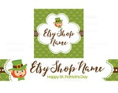 Etsy Banners - Etsy Shop Banners - St Patricks Day Etsy Banners - Saint Patrick's Day Etsy 4  - 2 Piece Set