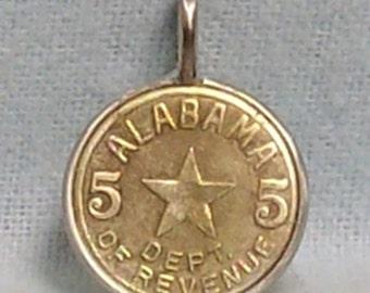 Alabama Tax Token Coin Pendant (E-954)