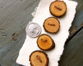 Tree branch buttons set of four ready to ship