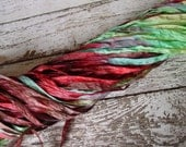 NEW - Hand dyed COUNTRY BACKROADS quarter inch dazzle ribbon, 5 yards