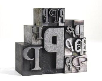Letter P Set - Vintage Metal Letterpress