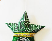 Full Nelson, Virginia Pale Ale, Blue Mountain Brewery, Beer Can Stars, Recycled Ornaments, Green Yellow