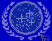 United Federation of Planets Insignia Patch Cross Stitch Pattern PDF