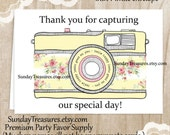 Wedding Photographer Thank You Card / Camera Photography Notecard Stationery / Customize your Text  /  1-2 Day Ship (nc)