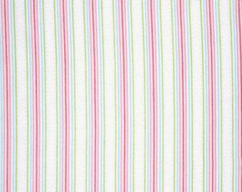 Pink Lulu pwtw097WHITE  Cotton Fabric by Tanya Whelan FreeSpirit Lulu Roses