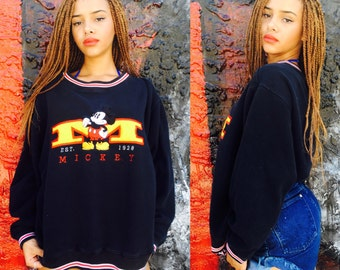 Vintage Mickey Mouse Varsity Crewneck Sweatshirt