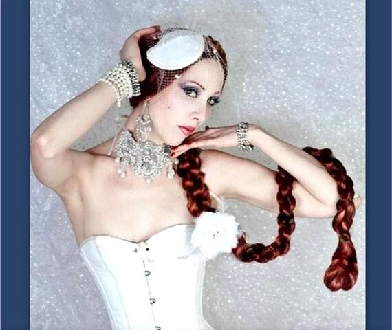 Long Hair braid extension plaited twist hairpiece hair accessory Renaissance costume Wig hairpiece wedding ren faire custom color plait