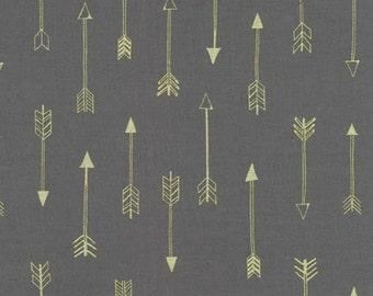 Michael Miller - Arrow Flight Collection - Arrows in Coin Metallic - Fat Quarter