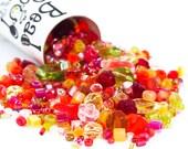 Tango Bead Mix - A SOUP of Miyuki Seed Beads and Czech Pressed Glass Beads