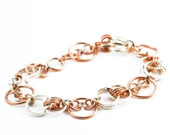 Champagne Bracelet in 14kt Rose Gold Filled and Argentium Sterling Silver