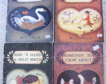 10% OFF SALE How to MILLY Smith Tole Painting Books 1980s Lot of 4 #5, 8, 10, 14