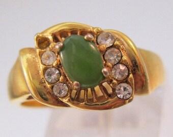 10% OFF SALE Genuine Jade Ring Size 8 Vintage Jewelry Jewellery