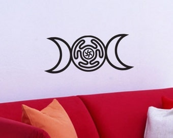 Vinyl WALL ART Triple Goddess Hecate Pagan Wiccan Decal