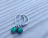 Reserved for Isa: malachite earrings