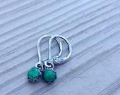 Reserved for Isa: malachite earrings
