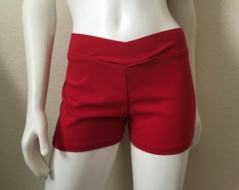 Vintage Women's 90's Red Shorts, Low Rise by Venus (S/M)
