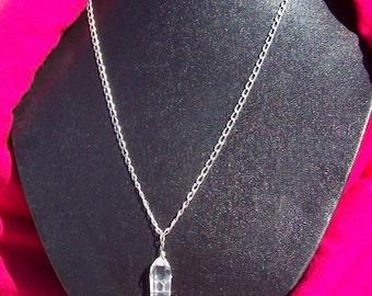 ON SALE CRYSTAL Vision IIl  Quartz crystal and Sterling silver, crystal necklace, sterling silver crystal, crystal pendant necklace