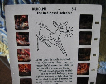 Rudolph the Red Nosed Reindeer Film Card, Tru-Vue Rudolph the Red Nosed Reindeer Film Card