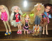 Sale!!!! Bratz Dolls x 5 All fully dressed and with shoes. Great for B-day, Christmas or ? Gift