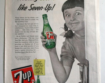 October 1955 Ladies Home Journal 7 Up ad