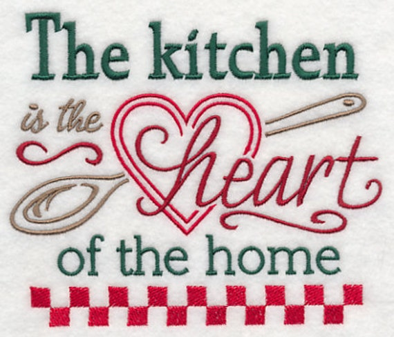 The Kitchen Is The Heart Of The Home White Cotton Kitchen Tea
