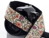 Floral Camera Strap, Fits dSLR, SLR or Mirrorless cameras, Canon camera strap, Nikon camera strap, Camera Neck Strap, 157 w
