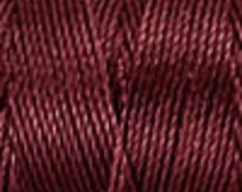 Black Currant Tex 210 C Lon Beading Cord, 86 yard spool C Lon Beading Cord, Kumihimo Beading Cord