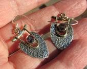 Sale, Slavic Style Mystic Topaz Earrings, 925 Silver, Kievan Russ