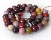 Moukaite Gemstone Beads 10mm Round Full Strand