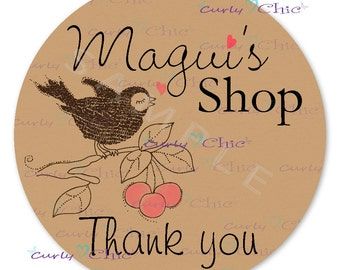 Thank you Stickers for Business Personalized Stickers or Labels for your Favors and Business shop