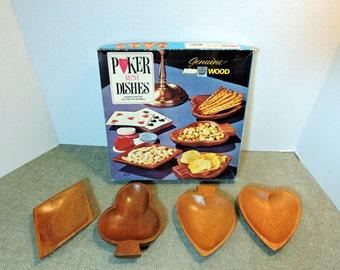 Vintage Poker Mini Dishes/Snack Bowl