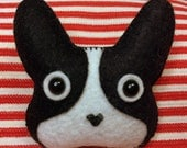 Boston Terrier Felt Pin