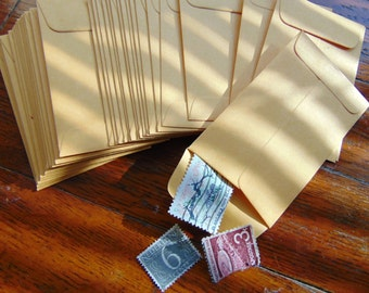 24 Manila Coin Envelopes Office Supply for Collage Assemblage Altered Book Advent Calendar