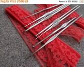 SALE SALE SALE Vintage Crochet Hooks Destash Lot Six Set Stainless Steel Lace Doily Doiles Making Supplies Sizes 0 1 2 6 9 10