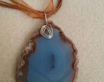 Beautiful Agate Slab Pendant