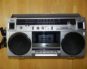 Vintage 80s Toshiba AM FM Cassette Player Recorder Boombox
