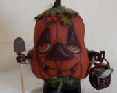 Halloween Fall Pumpkin Pimitive Doll Harvest Harry Handmade OOAK Primitive Folk Art