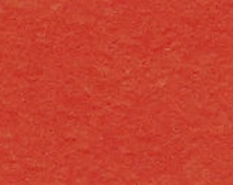 100% Wool Felt 20cm x 30cm 1.5mm thick - 505 Basic Orange