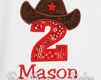 Cowboy Birthday Shirt, Bandana Birthday Shirt, Cowboy Hat Birthday Shirt, Cowboy Boot Birthday Shirt, Custom Western Birthday Shirt