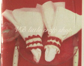 Napkin rings crochet pattern. Instant PDF download!