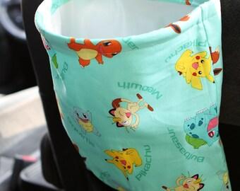 Pokemon Car Trash Bag or Storage