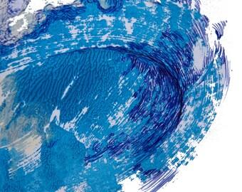 minimalist painting print: Wave