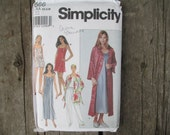 Simplicity 8666, Slip or Nightgown, Camisole, Pants or Shorts, Robe Pattern, Uncut, Sizes XS, S, M