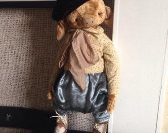 18 inch Artist Handmade Plush Lavender Inscented Teddy Piglet Alexander by Sasha Pokrass