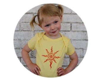 You are my Sunshine Baby Onepiece Sunny Pastel Butter Yellow Unisex Baby Clothing Sun Hand Printed Cotton Baby Bodysuit Short Sleeved, Solar