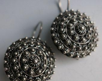 Etruscan 800 Silver Earrings Italy